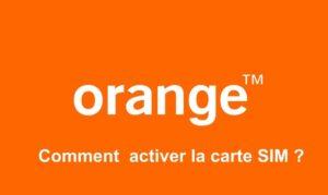 activer la carte sim orange